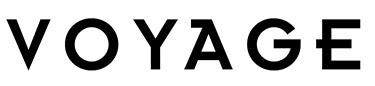 Voyage plain black logo